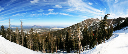 Arizona Snowbowl Panorama including Mount Humphreys